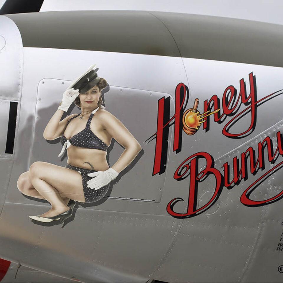 Pin-Up Vliegtuig Art